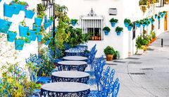 Den vita staden Mijas vid Costa del Sol.