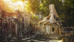 Kambodjas tempelruiner är en av anledningarna till att resa hit. Här är Preah Khan.