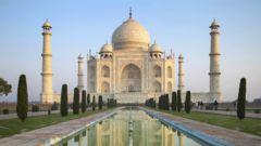 Taj Mahal –ett av världens sju underverk.