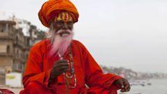 """En helig indisk """"sadhu""""."""